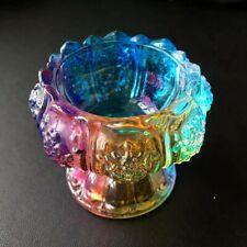 Coloured Glaze Bowl Ashtray Candleholder Lotus Flower Shaped Quartz Crystal