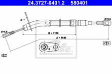 Seilzug, Feststellbremse für Bremsanlage Hinterachse ATE 24.3727-0401.2