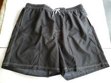NWT Mens Croft & Barrow Swim Trunks XXL Solid Black Lined Pockets