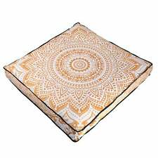 """Cushion Floor Pillow Case Mandala 35"""" Ottoman Indian Square Dog Bed Cover Pouf"""