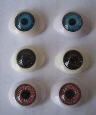 6 pr x Acrylic Doll Eyes - 18mm - Set Lot - SO Cheap! LAST SETS!
