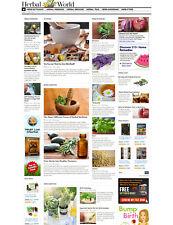 Herbs Herbal Alternative Health Medicine Responsive Mobile Website For Sale