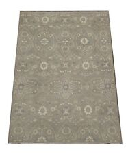 "8X10 Gray Modern Area Rug Hand-Knotted Wool Carpet (7'10"" x 10')"