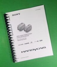LASER PRINTED Sony CX300 CX350 CX370 Digital HDR Camera 78 Page Owners Manual