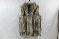 Promotion Real Knitted Rabbit Fur With Raccoon Fur Collar Vest Gilet Fur Coat