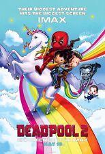 Deadpool 2 Movie Poster (24x36) - Ryan Reynolds, Josh Brolin, IMAX v3