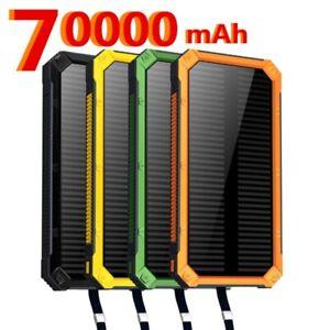 Solar Power Bank 70000mah Portable Powerbank Battery Charger External Battery US