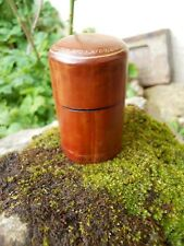 Ancienne boite en cuir Pyrogène Italie