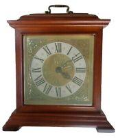 Vintage Old Wooden Spartus Electric Shelf or Mantel Quartz Clock