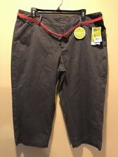 Womens Lee Natural Fit Stretch Crop Capris Size 16 M Stone Just Below The Waist