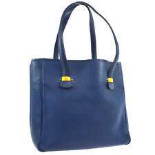 HERMES GALLOP Shoulder Tote Bag Blue Buffle Skipper France ⚪X O02059f