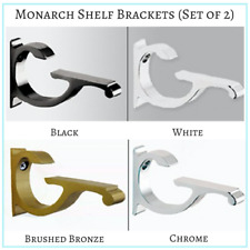 set of 2 monarch shelf brackets chromeblack white u0026 brushed bronze finish
