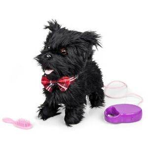 WALKING TALKING SCURRYING SCOTTY DOG WITH LEAD AND BRUSH - 28779 CUTE PET KIDS