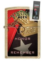 Zippo 207G vietnam vets honor remember Lighter + FLINT PACK