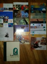 14 Walt Disney Collectors Society catalogs, 9 gallery books and Box