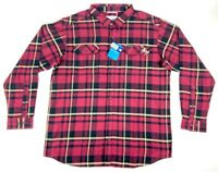 Columbia Mens Florida State Button Front Shirt Plaid Long Sleeve Flannel XXL