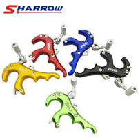 NEW Archery Release Aids 4 Finger Trigger Grip Caliper Thumb Handle Compound Bow