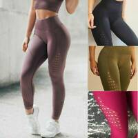 Women Sports YOGA High Waist Fitness Leggings Running Gym Skinny Seamless Pants