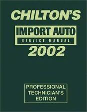 Import Auto Service Manual 2002 Edition (Chilton's Import Auto Service-ExLibrary