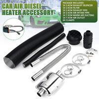 24mm Exhaust Silencer +25mm Filter+ Exhaust & Pipe For Webasto Diesel Heater
