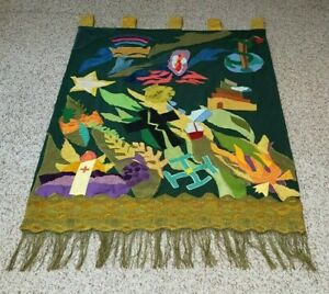 """CHURCH BANNER PARAMENT 58"""" X 42"""" HAND CRAFTED MEANINGFUL SYMBOLISM BEAUTIFUL"""
