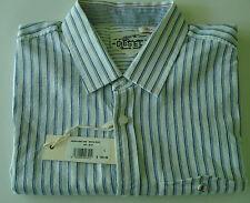 DIESEL DESIGNER MEN S.S. SYDDA SHIRT BLUE 100% COTTON IT. SIZE L US VERY SMALL M