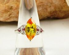 Sphaleros Quartz Marquise Cut Ring Gorgeous! 925 Sterling Silver Size 8 TCW 5.05