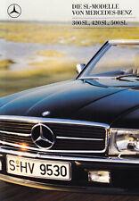 MERCEDES SL R107 ROADSTER 300 420 500 Youngtimer Prospekt Brochure 1988 38