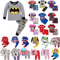 Kinder Jungen Mädchen Schlafanzug Pyjamas Oberteil Karikatur Nachtwäsche Set Neu