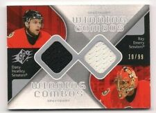 Heatley & Emery 07-08 UD SPx Winning Combos Dual Game Used Jersey Silver /99