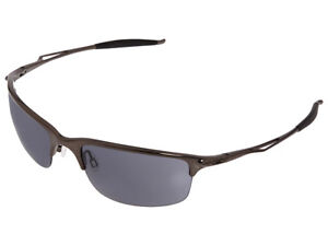 Oakley Half Wire 2.0 Sunglasses 42-220 Black Chrome/Grey