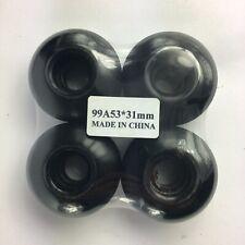Black Blank New Skateboard Wheels 53mm 99A white wheel slim design durable