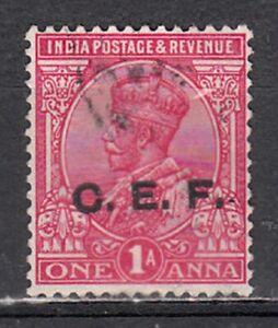 INDIA 1913-21 KGV CHINA EXPED FORCE C.E.F. (CEF) 1a VALUE SCOTT M25 USED