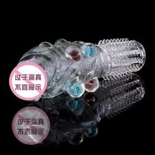 crystal delay Large particles Reusable Condoms Sleeve ribbed Latex Cover Penis