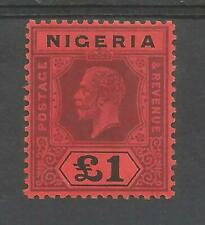 THE 1914-29 GV £1 PURPLE AND BLACK RED FINE MINT