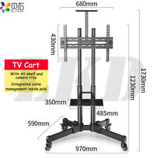 """Adjustable TV Stand Mobile Cart Mount For 32-65"""" Inch Flat LED LCD Screens"""