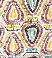 Wild Mid Century Modern Abstract Atomic Print Barkcloth Panel A Stunner!!
