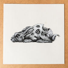 """ROA : The Year of The Rabbit 12"""" Vinyl LP Screen print (2011) Only /52 Rare !!"""