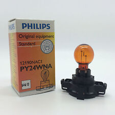 Philips Hypervision 12190 PY24WNA Amber Front Indicator Light Bulb Lamp 12V 24W