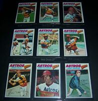 1977 TOPPS HOUSTON ASTROS TEAM COMPLETE 27 CARD SET EXMT/NM CRUZ RICHARD WATSON