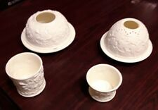 2 Yankee Candle Tea Lite Holders w Bottom Dish & Cover and 2 Cup Candle Holders