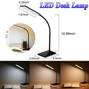 12W LED Desk Lamp Flexible Touch Sensor 5 Mode Reading Lamp Night Light USB Port