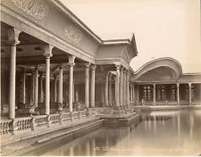 Bonfils, Egypte, Le Caire, Galerie intérieur du Palais de Choubra Vintage albume