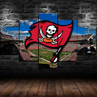 Tampa Bay Buccaneers Football 5 pcs Painting Printed Canvas Wall Art Home Decor