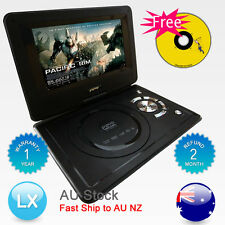 "Hitek AU Brand New 9.5"" Portable DVD Player DivX,Swivel, USB,SD,TV,300 GAMES"
