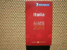 GUIDE ROUGE MICHELIN ITALIA 2013 NEUF SOUS BLISTER