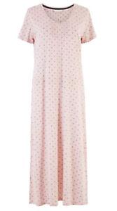 Ex M*S Cool Comfort™ Cotton Modal Spot Print Nightdress Size 6 - 12 (G1)