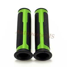"MOTORCYCLE CNC ALUMINUM 7/8"" GREEN RUBBER GEL HAND GRIPS FOR Honda Suzuki Yamaha"