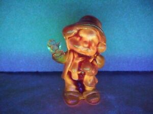 Boyd Glass Freddy The Clown -Country Red- made 2-14-89 ~Glows in Black light~