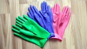 Latex gloves, short (8 colors)